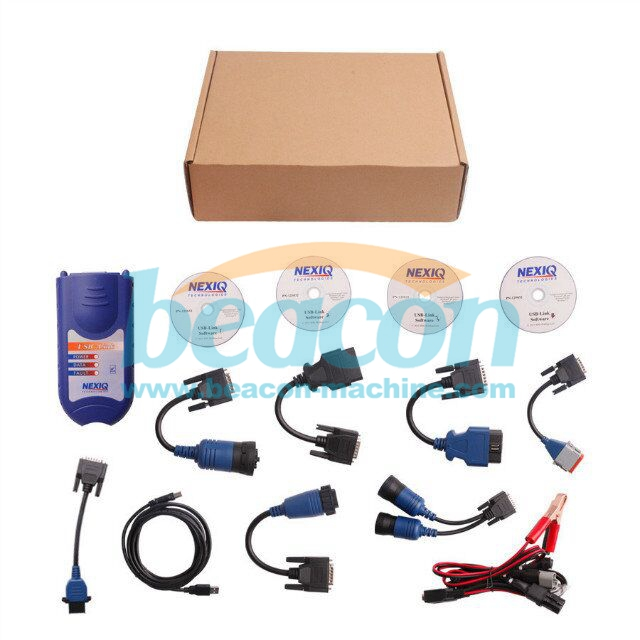 Newest Professional NEXIQ 125032 USB Link + Software Diesel NEXIQ Truck Diagnose without Bluetooth