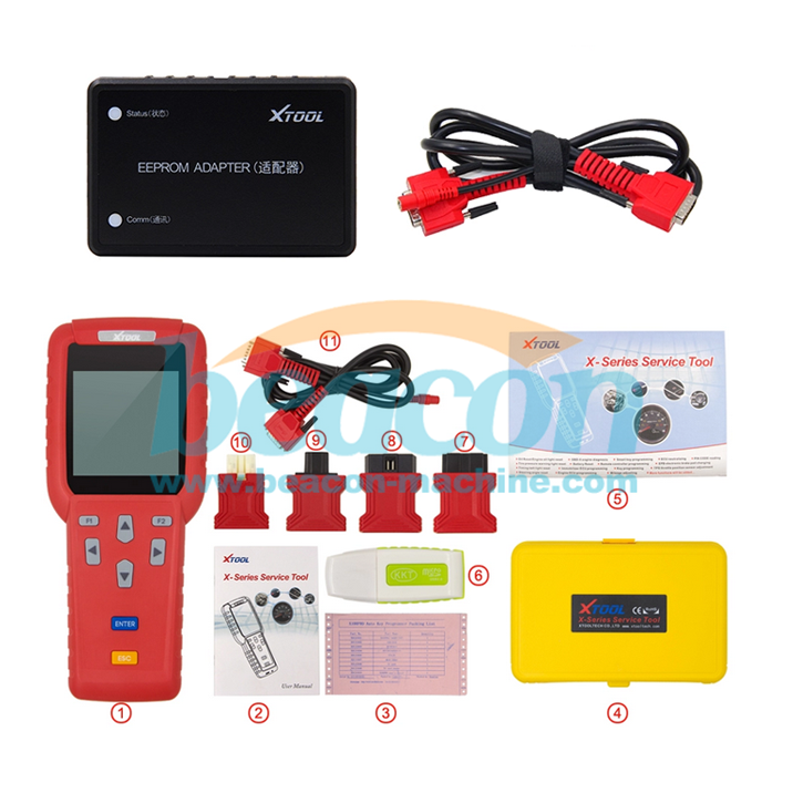 Original Xtool X100 Pro handheld Auto Key Programmer X100+ Plus car transponder automatic key cutting machine