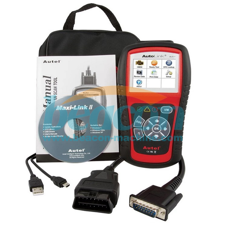 Autel AutoLink AL519 AL-519 OBD2 EOBD Car Fault Code Reader Scanner Automotive Diagnostic Scan Tool Escan Automotivo