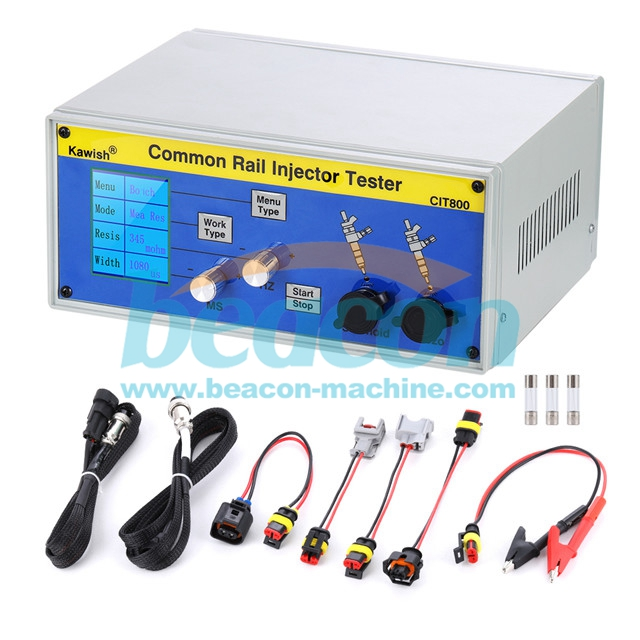 CIT800 multifunction electromagnetic common rail diesel fuel piezo injector tester driver