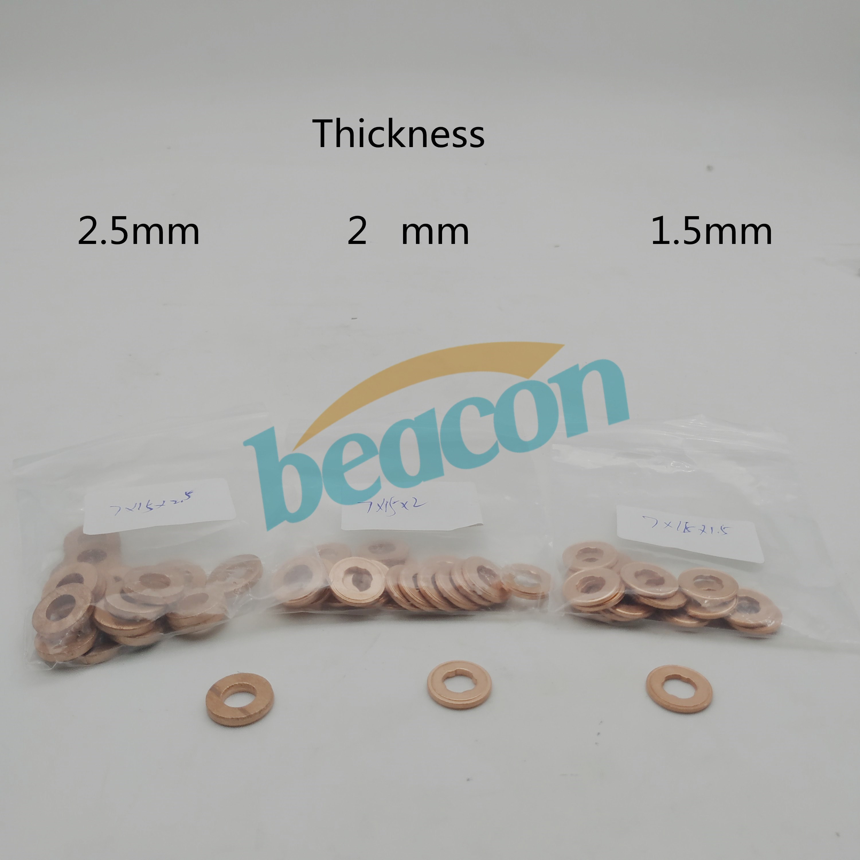 Diesel fuel engine common rail parts copper gasket adjusting shim 1.5mm 2.1mm 2.5mm thickness